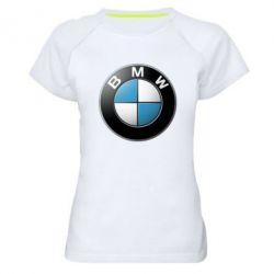 Женская спортивная футболка BMW Small Logo - FatLine
