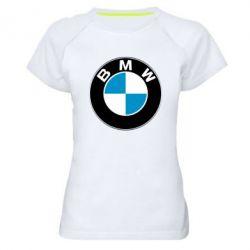 Женская спортивная футболка BMW Small - FatLine