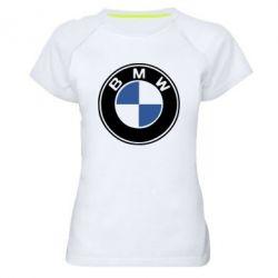 Женская спортивная футболка BMW - FatLine