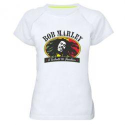 Женская спортивная футболка Bob Marley A Tribute To Freedom - FatLine