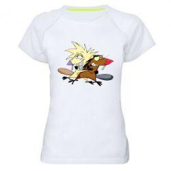 Женская спортивная футболка Бобры обнимашки