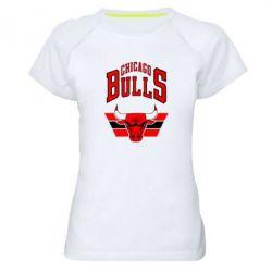 Женская спортивная футболка Большой логотип Chicago Bulls - FatLine