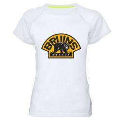 Женская спортивная футболка Boston Bruins - FatLine