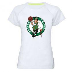 Женская спортивная футболка Boston Celtics - FatLine
