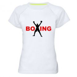 Женская спортивная футболка BoXing X - FatLine