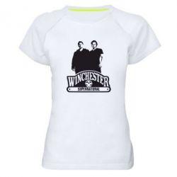 Женская спортивная футболка Братья Винчестеры сериал - FatLine