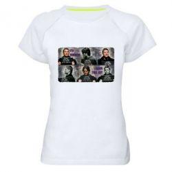 Женская спортивная футболка Братья Винчестеры в полиции - FatLine