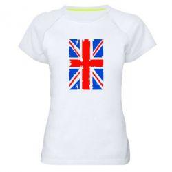 Женская спортивная футболка Британский флаг - FatLine