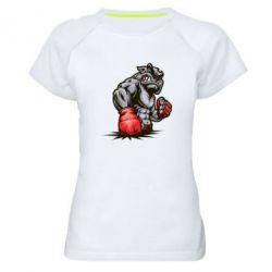 Женская спортивная футболка Bulldog MMA - FatLine
