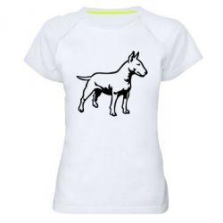 Женская спортивная футболка Бультерьер - FatLine
