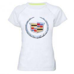 Женская спортивная футболка Cadillac - FatLine