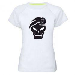 Женская спортивная футболка Call of Duty Black Ops logo