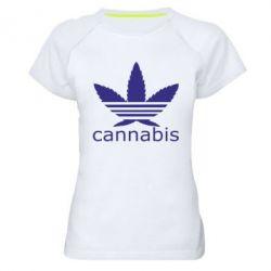 Женская спортивная футболка Cannabis - FatLine