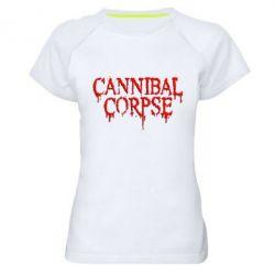 Женская спортивная футболка Cannibal Corpse - FatLine