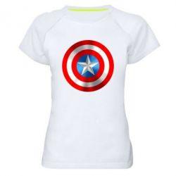 Женская спортивная футболка Captain America 3D Shield - FatLine