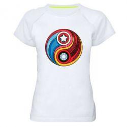 Женская спортивная футболка Captain America & Iron Man - FatLine
