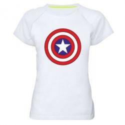 Женская спортивная футболка Captain America