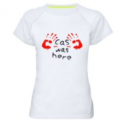 Женская спортивная футболка Cas was here - FatLine