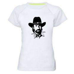 Женская спортивная футболка Чак Норис - FatLine