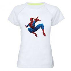 Женская спортивная футболка Человек Паук - FatLine