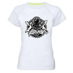 Женская спортивная футболка Chemodan Clan Angels - FatLine
