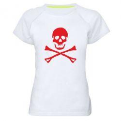Жіноча спортивна футболка Череп та кістки