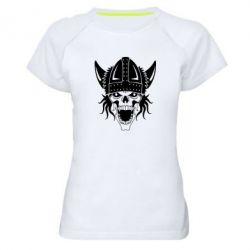 Женская спортивная футболка Череп с рогами