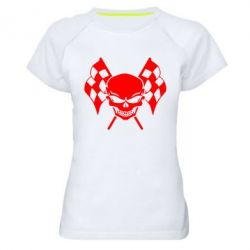 Женская спортивная футболка Череп Стрит Рейсинг - FatLine