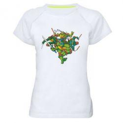Женская спортивная футболка Черепашки-ниндзя - FatLine