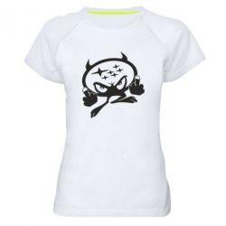 Женская спортивная футболка Чертик Subaru - FatLine