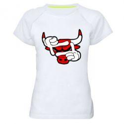 Женская спортивная футболка Chicago Bulls бык - FatLine