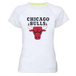 Женская спортивная футболка Chicago Bulls Classic - FatLine