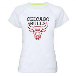 Женская спортивная футболка Chicago Bulls Logo - FatLine