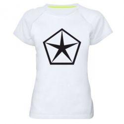 Женская спортивная футболка Chrysler Star - FatLine