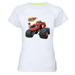 Купить Женская спортивная футболка Чудо-машинки. Вспыш., FatLine