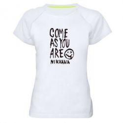 Женская спортивная футболка Come as you are Nirvana - FatLine
