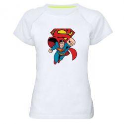 Женская спортивная футболка Comics Superman - FatLine