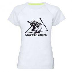 Женская спортивная футболка Counter Strike Gamer - FatLine
