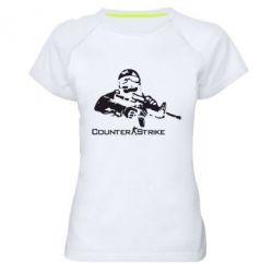 Женская спортивная футболка Counter Strike Player - FatLine