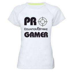 Женская спортивная футболка Counter Strike Pro Gamer - FatLine