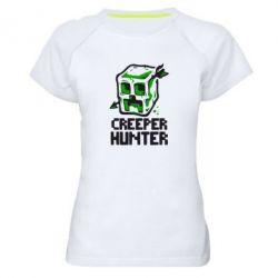 Женская спортивная футболка Creeper Hunter