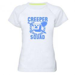 Женская спортивная футболка Creeper Squad - FatLine