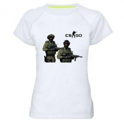 Женская спортивная футболка CS GO - FatLine