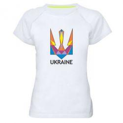 Женская спортивная футболка Цветной герб - FatLine