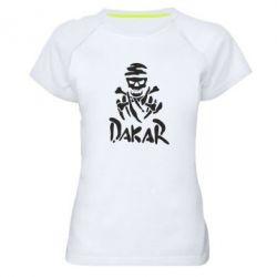 Женская спортивная футболка DAKAR LOGO - FatLine