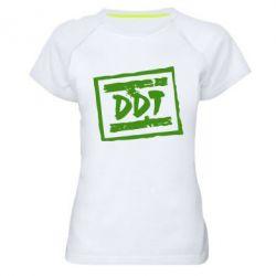 Женская спортивная футболка DDT (ДДТ) - FatLine
