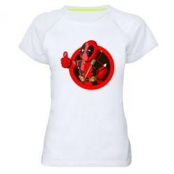 Женская спортивная футболка Deadpool Fallout Boy - FatLine