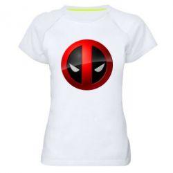 Женская спортивная футболка Deadpool Logo - FatLine