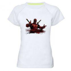 Женская спортивная футболка Deadpool Paint - FatLine