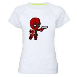 Женская спортивная футболка Дедпул с пакетиком - FatLine